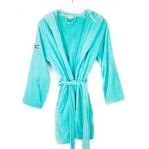 Lacoste FairPlay towel robe in beach glass